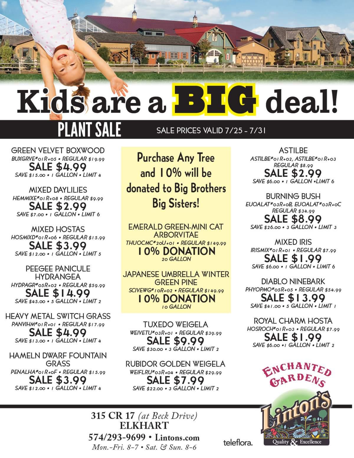 Kids Plant Sale Flyer