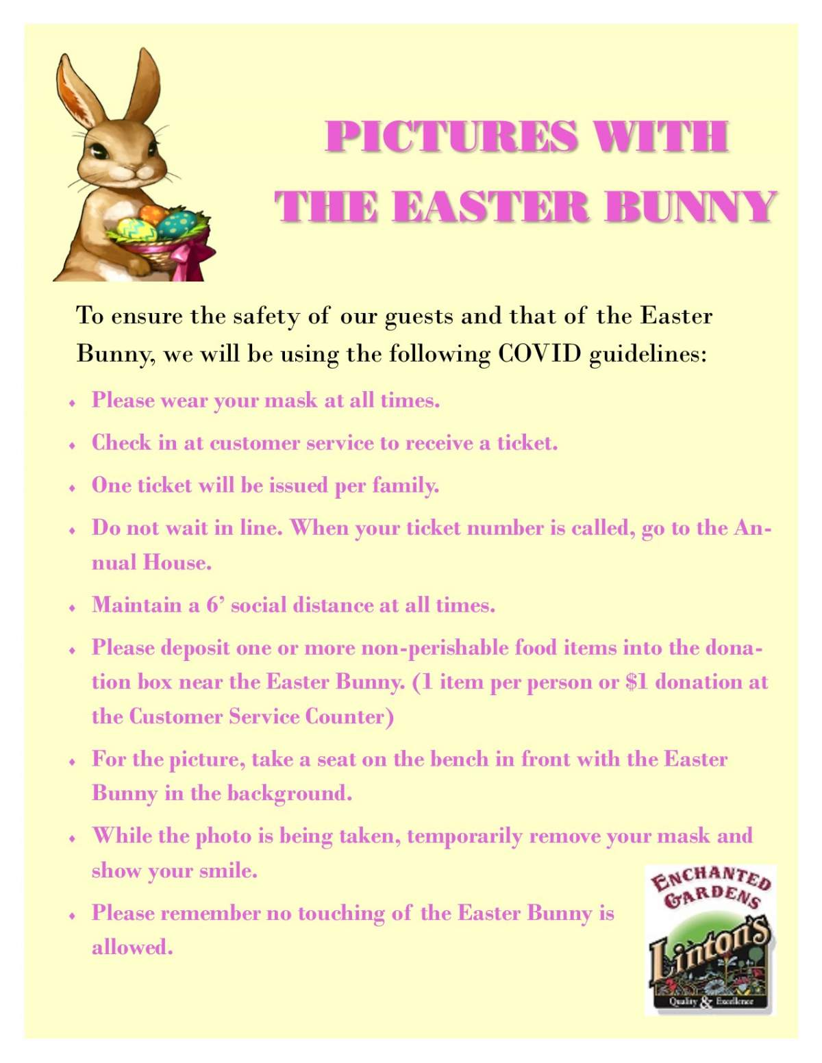 Easter Bunny COVID Guidelines