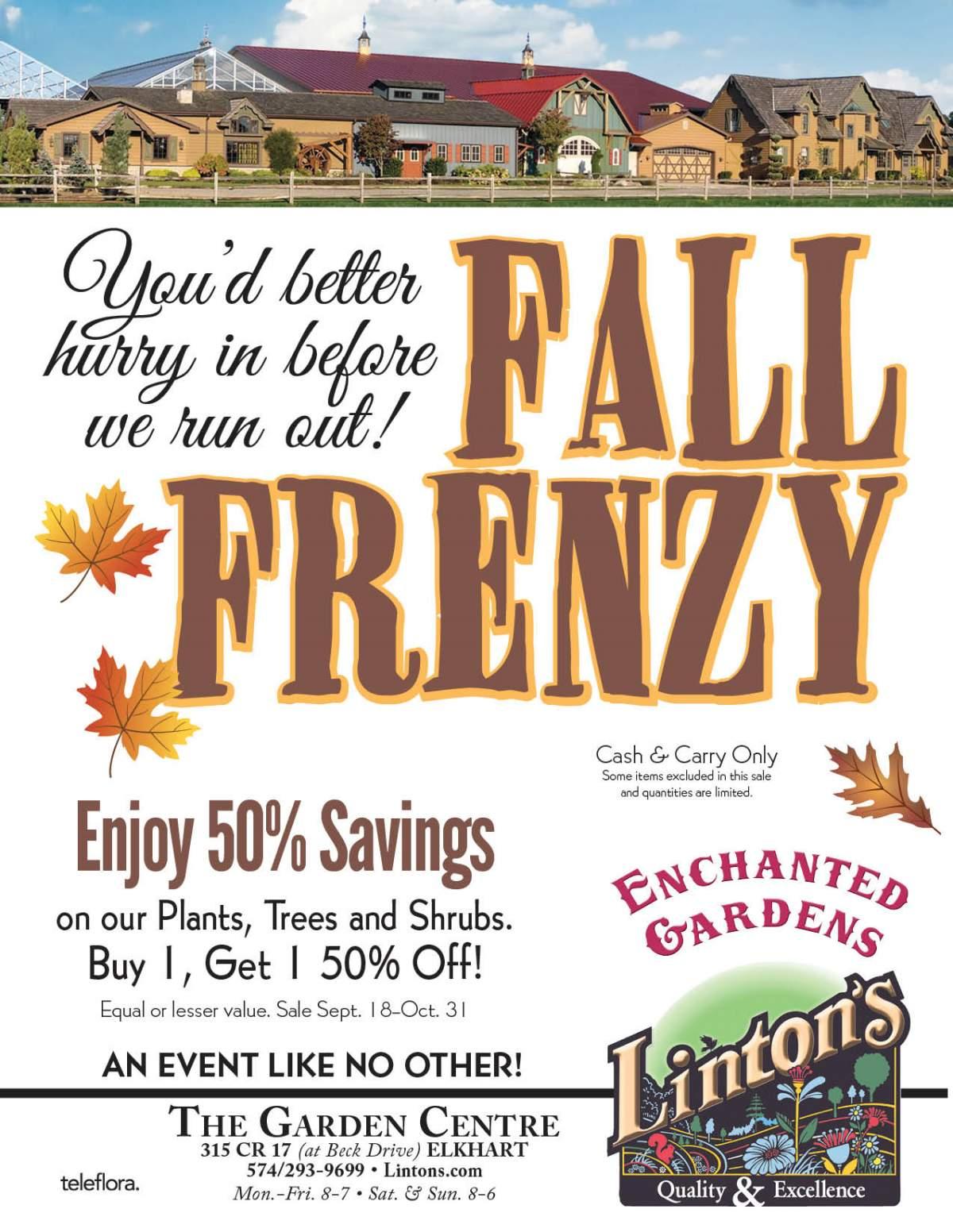 Fall Frenzy flyer