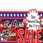 Red, White & Bloom Sale