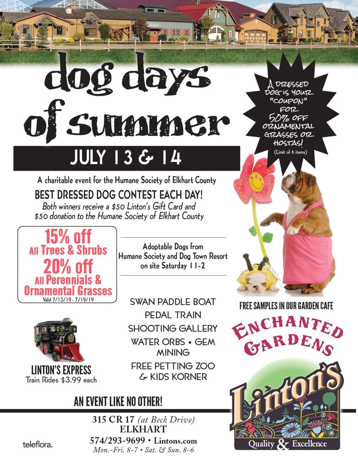 Linton's Enchanted Gardens : DogDays Flyer