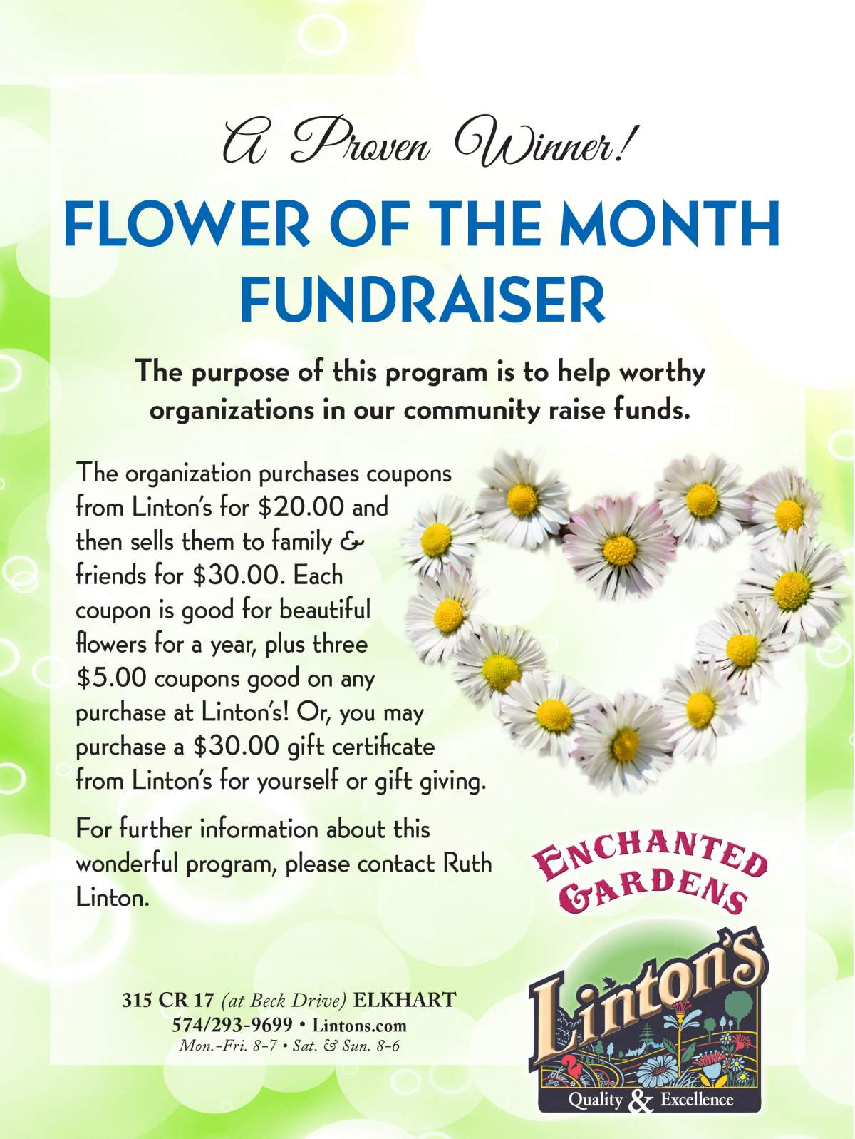 Flower of the month Flyer
