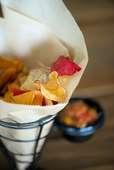 Floral & Hardy Veggie Chips & Salsa-*