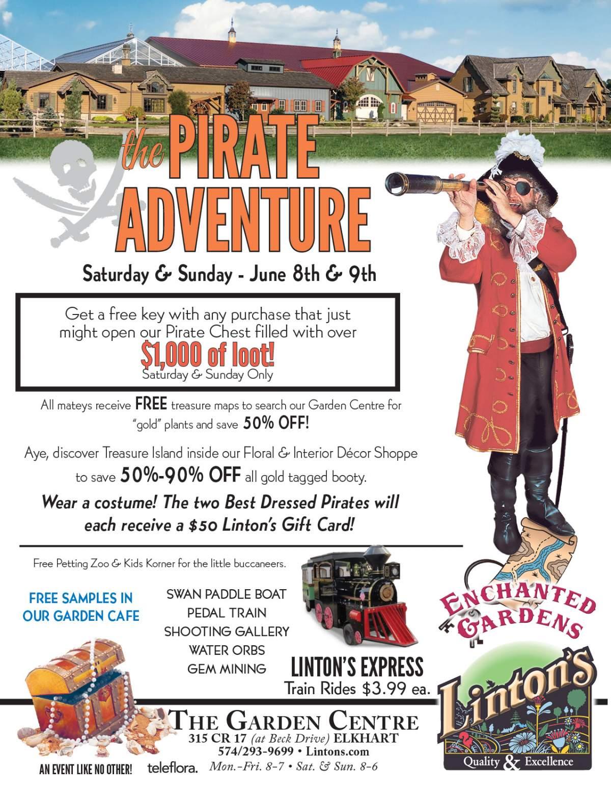 Linton's Enchanted Gardens : Pirate%20Adventure%20Flyer