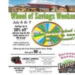 Wheel of Savings Weekend