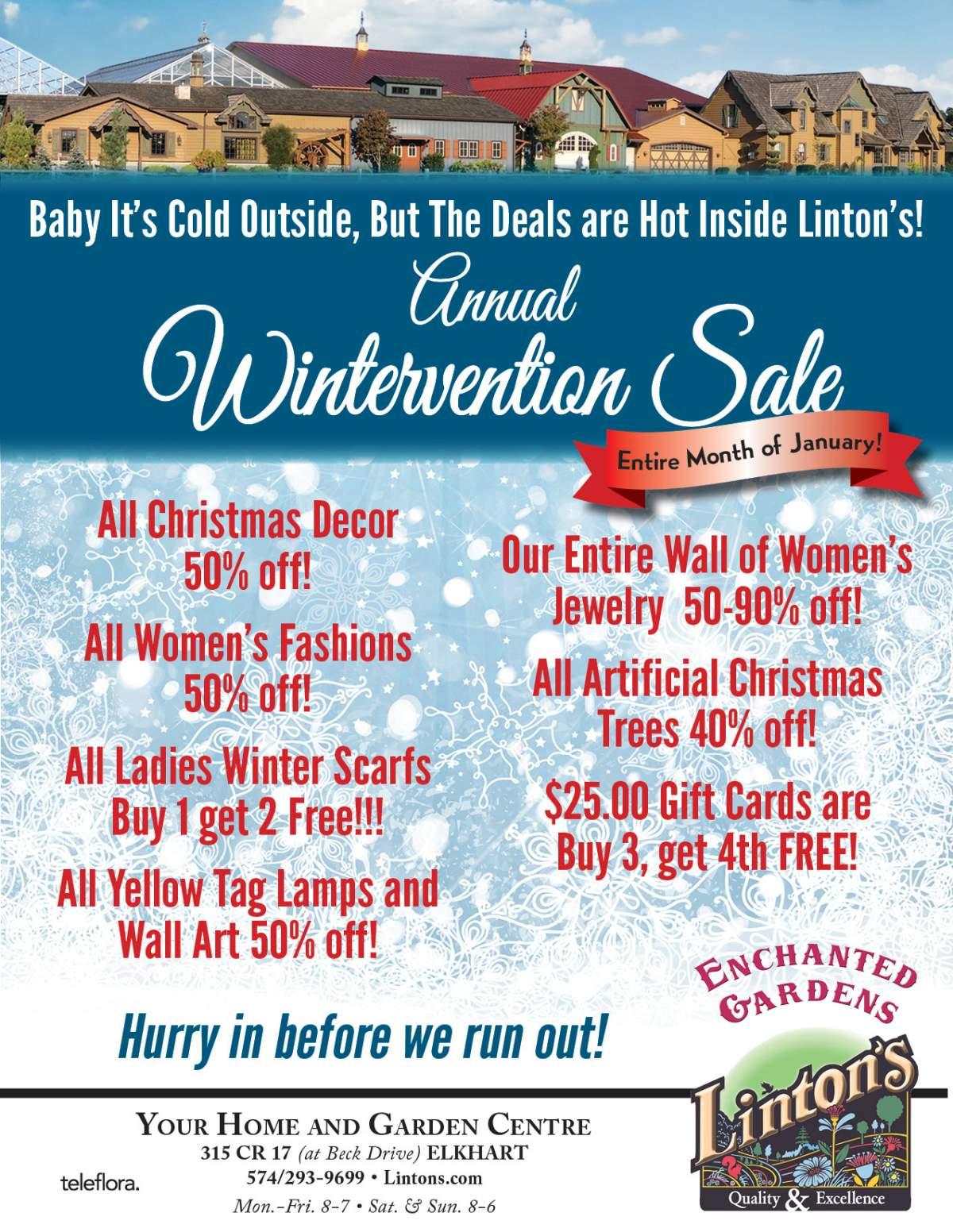 Linton's Enchanted Gardens : Wintervention%20Flyer