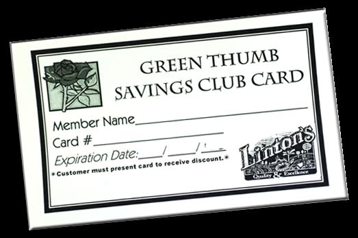 Linton's Enchanted Gardens : Savingscard